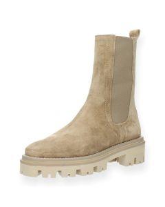 Beige beatle boots