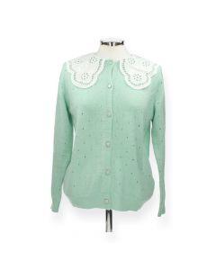 Groene trui met kraagje
