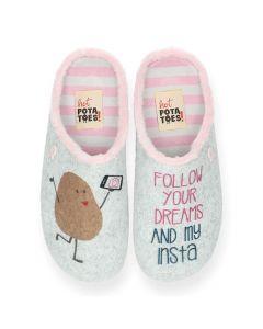 Grijze pantoffels Kontich