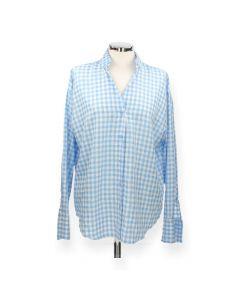 Blauw geruit hemd