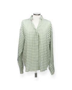 Groene geruite hemd