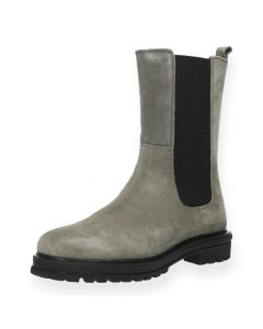 Taupe beatle boots