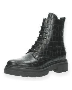 Zwarte bottines Croco