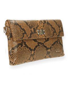 Slangenprint clutch Quince