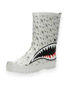 Lichtgrijze regenlaarzen Shark