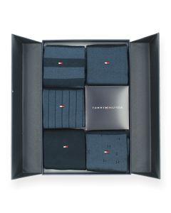 Giftbox blauwe kousen