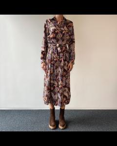 Bruin kleedje bloemenprint