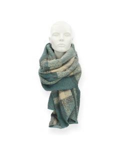 Groene sjaal Pyron Checked