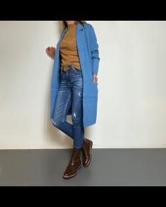 Blauwe lange trui