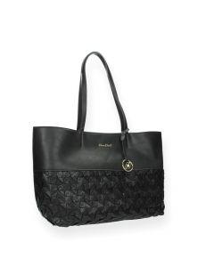 Zwarte shopper Fanny