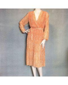 Oranje kleed luipaardprint