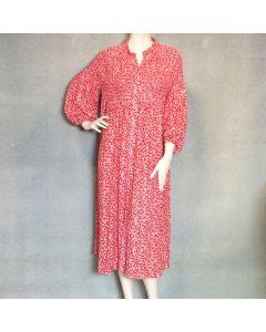 Rood kleed bloemenprint