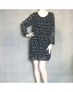 Zwarte bloemenprint kleedje