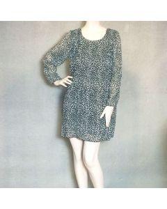 Zwart kleedje luipaardprint