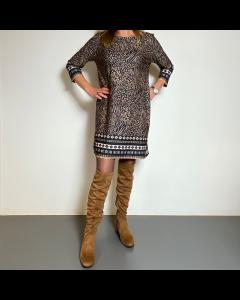 Leopard kleedje bruin