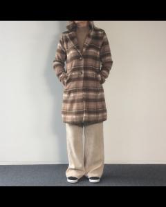 Bruine geruite jas