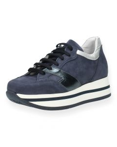 Blauwe sneakers