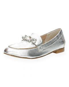 Zilveren loafers