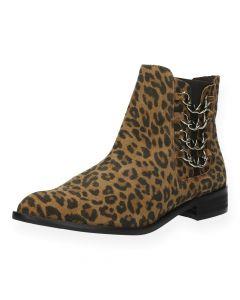 Luipaardprint boots