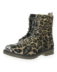 Luipaardprint bottines
