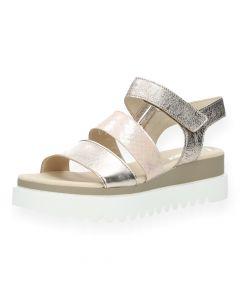 Metallic roze sandalen
