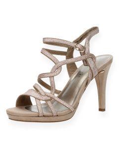Roze sandalen met hak
