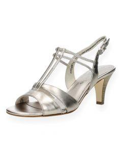 Metallic sandalen met hak