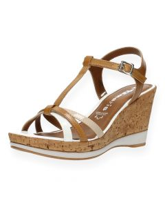 Multicolour sandalen met sleehak