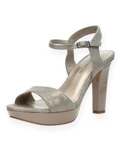 Taupe sandalen met hak