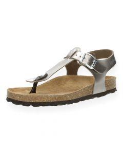 Metallic grijze sandalen
