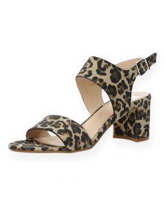 Luipaardprint sandalen met hak