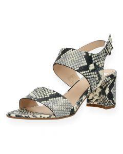Slangenprint sandalen met hak