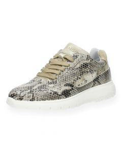 Slangenprint sneakers