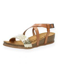 Cognac sandalen