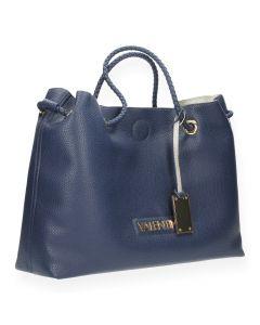 Blauwe shopper