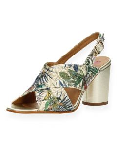 Multicolour sandalen met hak