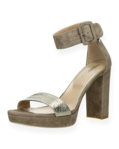 Taupe sandalen met hak10