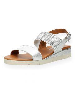 Zilveren sandalen