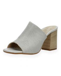 Grijze sandalen met hak