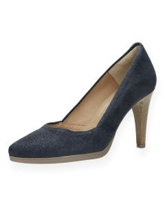 Blauwe pumps
