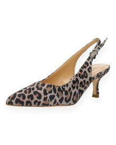 Luipaardprint sandaal met hak