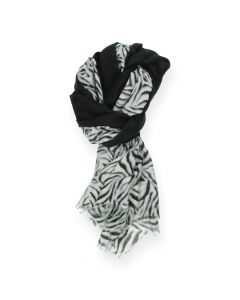 Zebraprint sjaal