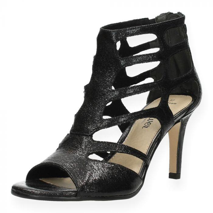 821c6ae0fd7597 Zwarte sandalen met hak van S. Oliver   BENT.be