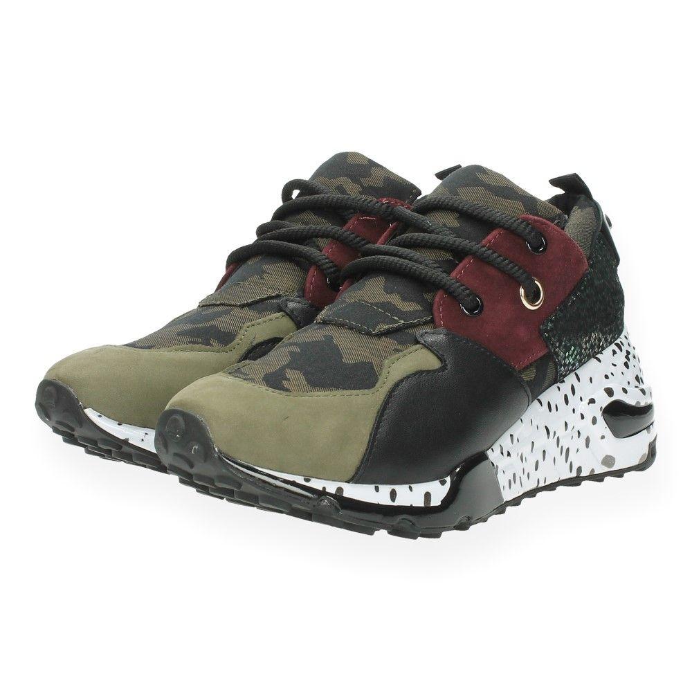 Retour Vanaf Steve €35 begratis Levering En Multicolour Kaki Maddenbent Sneakers XiTkPuOZ