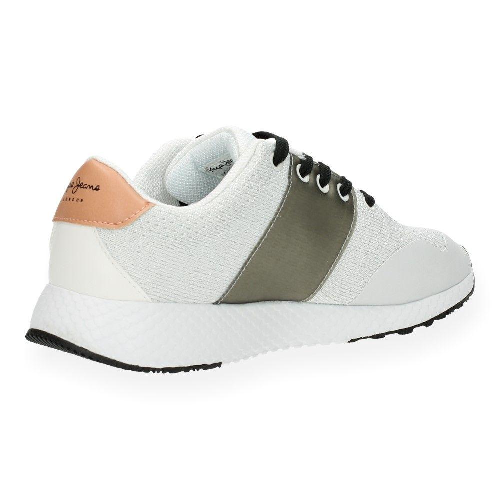 Pepe Jeans Sneakers Van Zilveren Wit Pk0wO8nX