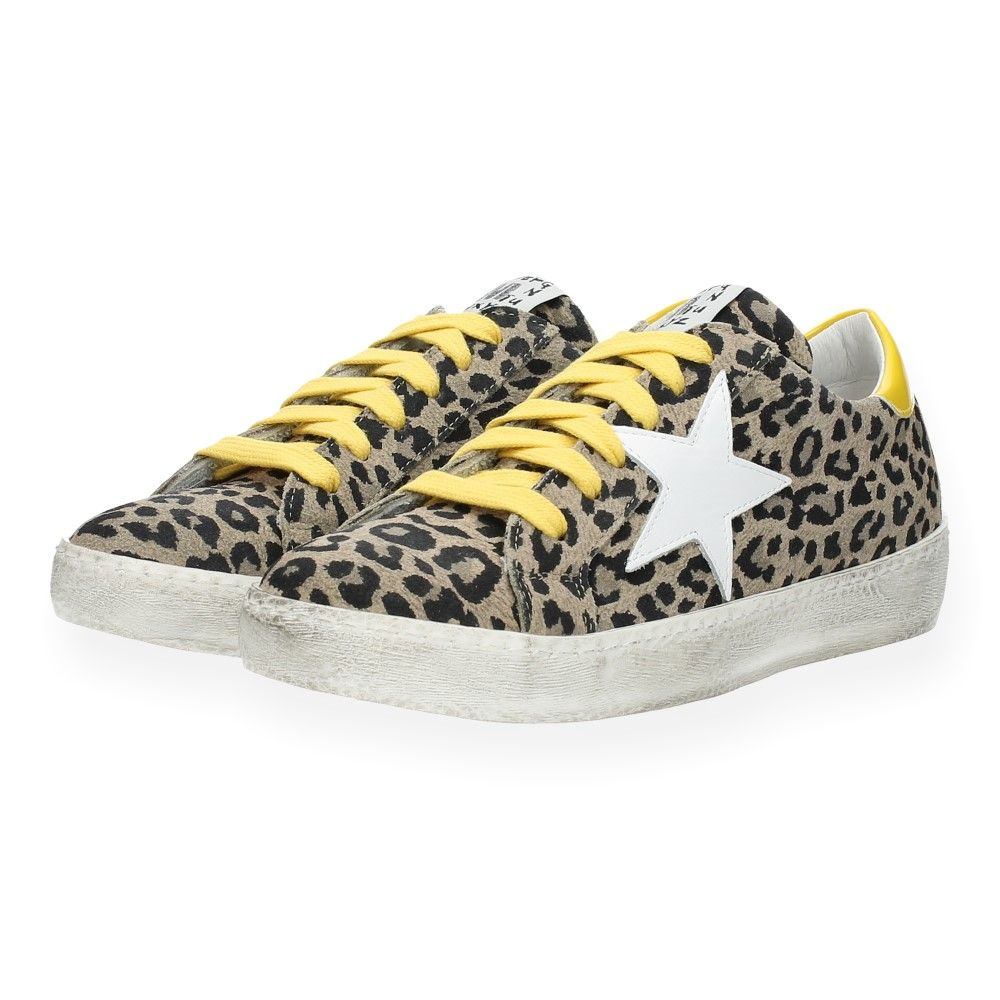 Sneakers Geel Méliné Luipaardprint Van Sneakers Luipaardprint Van gyf7bYv6