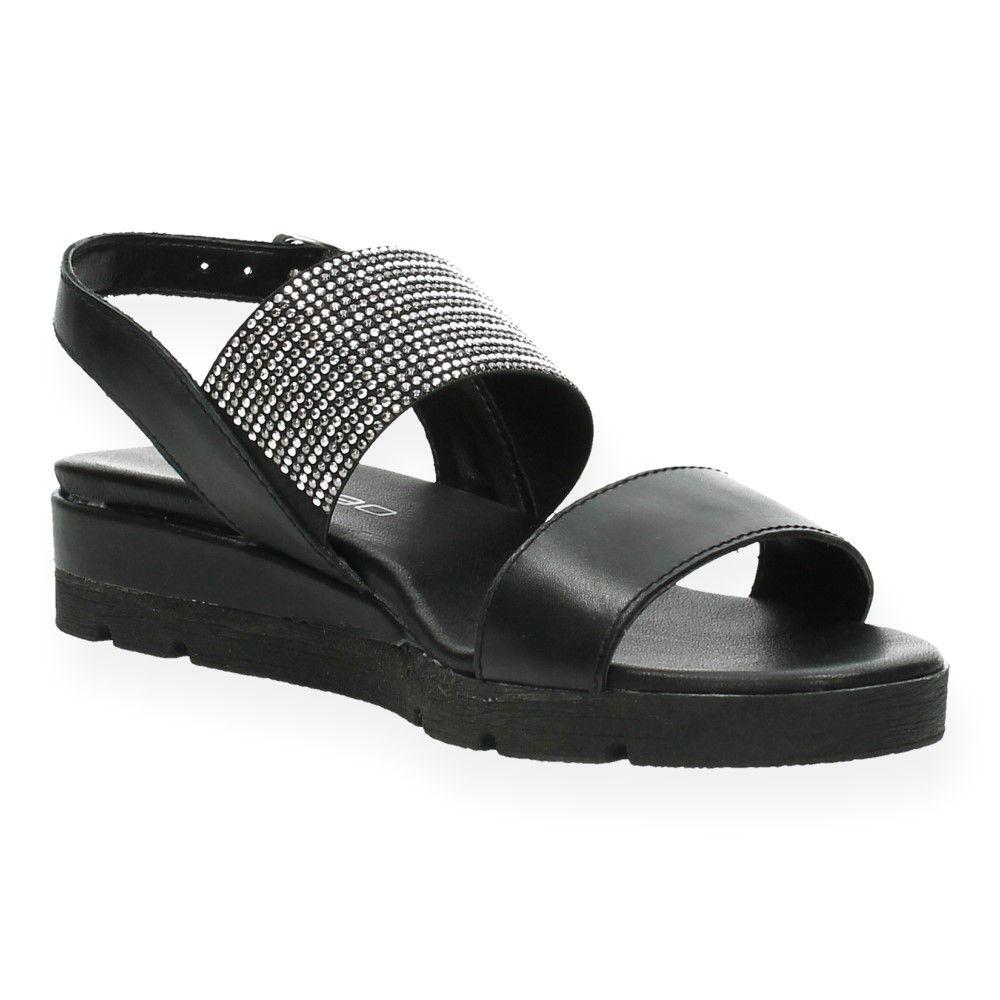 Zwarte Sandalen Ebl 8790 Van Zwart 6Ifyv7bgmY