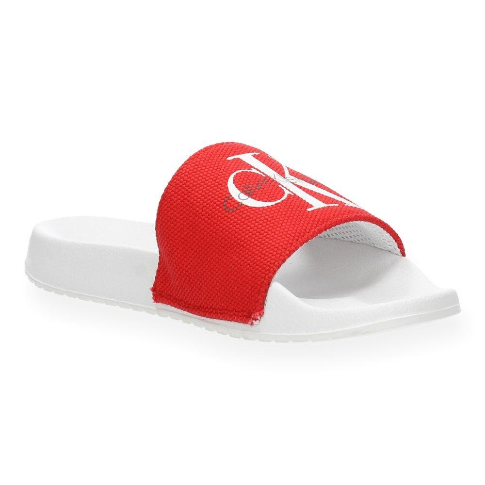 Calvin Rode Slippers Jeans Rood Van Klein OPuXTkZi