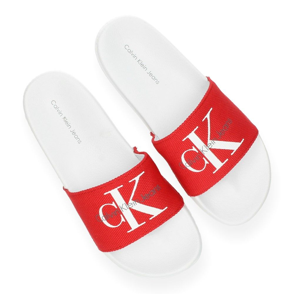 Rode Jeans Slippers Van Rood Calvin Klein n0kPwXNO8