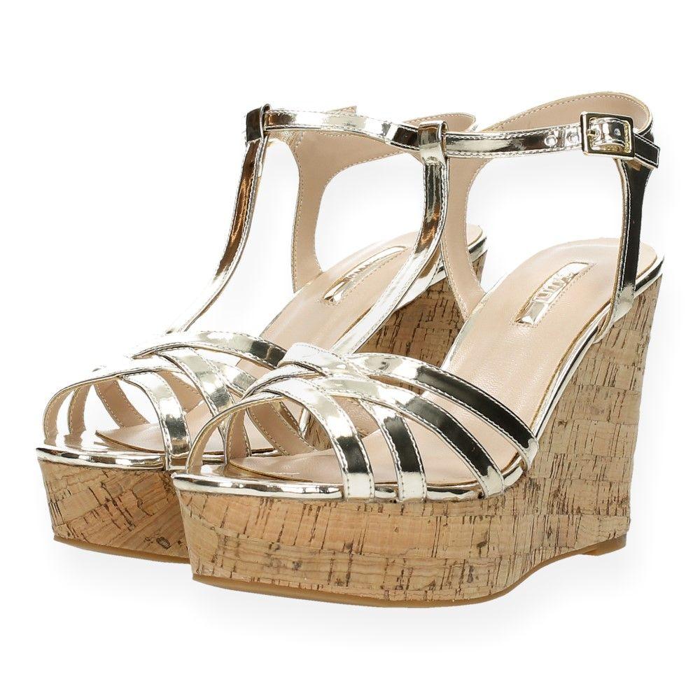 Sandalen Platinum Sleehak Met Van Gaudi Gouden j53RL4qcA